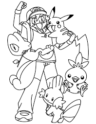 pokemon fun together coloring pages for kids gnc printable