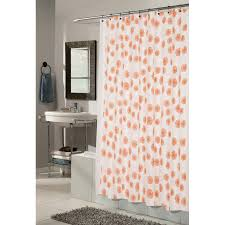 Circles Shower Curtain Carnation Home Fashions Vienna Circle Pattern Fabric Shower