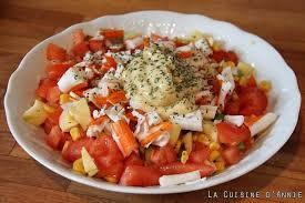 cuisine salade recette salade de maïs au surimi la cuisine familiale un plat