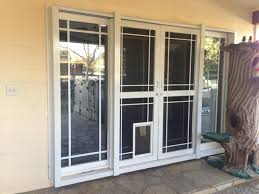 Patio Panel Pet Door by Security Doors Security Windows Modesto Ca Sliding Security