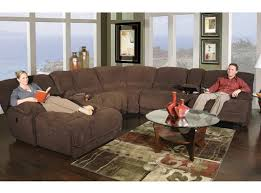 attractive sectional with recliner with kanes furniture dimples 7