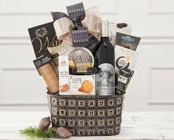 country wine basket silver oak cabernet gift basket at wine country gift baskets