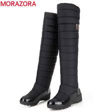 womens boots knee high morazora boots high quality keep warm knee high