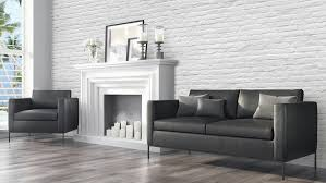wallpaper livingroom walls republic contemporary faux brick industrial chic brick wall