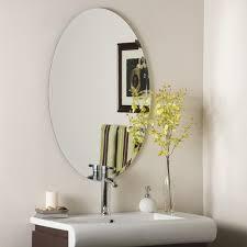 uttermost frameless oval beveled vanity mirror hayneedle