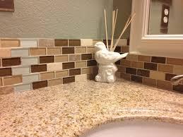 Bathroom Tile Backsplash Ideas by Bathroom Tile Backsplash Slightly Wraps The Mirror Basement