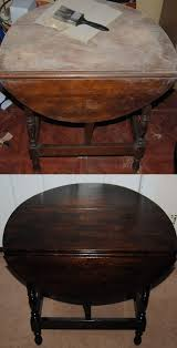 diy drop leaf table before and after refinished drop leaf table on the upcycle com