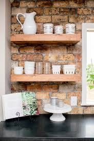 painted white wood shelves for kitchen remarkable home design