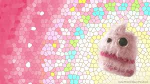 cute backgrounds for desktop free cotton candy floss monster desktop wallpapers