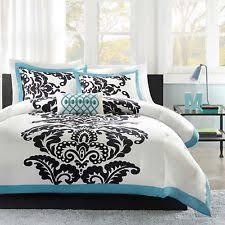 teen girls bedding twin aqua gray chevron teal comforter set kids