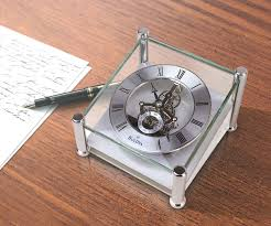 108 round silver desk clock superb sku b9850 sku b9850 full size