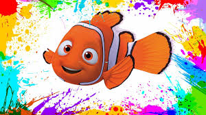 painting finding nemo coloring book pages kids paint