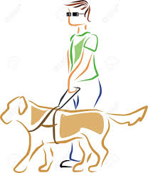 Blind Dog And His Guide Dog A Blind Man Is Guided By His Guide Dog Royalty Free Cliparts