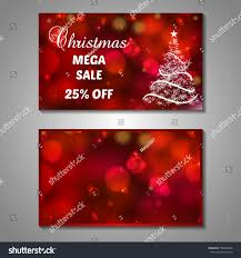 Christmas Cards Invitation Set Stylized Christmas Tree Invitation Flyer Stock Vector