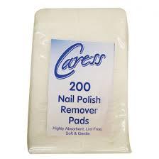 caress professional nail polish remover pads x 200 salons direct