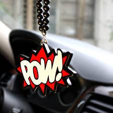 pow bomb edge badge hip hop car fashion pendant jdm interior