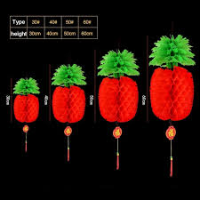Paper Pineapple Decorations 2017 New 50cm Pineapple Lantern Chinese New Year Decorations