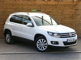 volkswagen suv white volkswagen tiguan 2 0 tdi bluemotion tech match 4 motion 4wd 5dr