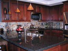 Cherry Wood Kitchen Cabinets With Black Granite Cherry Cabinets Modern Style Cherry Kitchen Cabinets Black