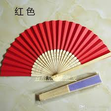 Wedding Program Hand Fans Folding Pure Colour Paper Hand Held Fans Wedding Favor Diy Fine