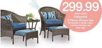 Wicker Patio Table And Chairs Patio Sale At Kroger