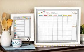 Wall Calendar Organizer System Diy Dry Erase Calendar Darling Doodles