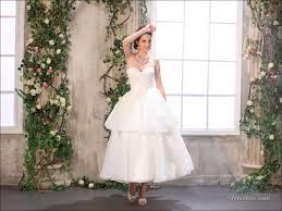 111 elegant tea length wedding dresses vintage u2013 femaline