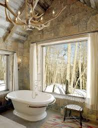 Stone Bathroom Designs Natural Stone Bathroom Tile Cool Glass Shower Room Mix Elongated