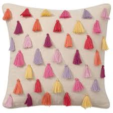 rainbow tassel pillow covers pbteen