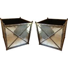 Large Planters Cheap by Pair Of Exquisite Dennis Leen Mirrored Planters Pots Jardeniers