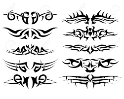 patterns of tribal for design use royalty free cliparts