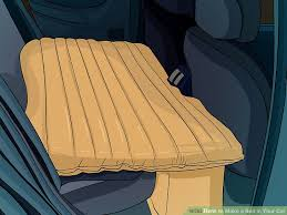3 ways to make a bed in your car wikihow