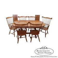 8655 athol table company solid oak windsor dining table u0026 chair