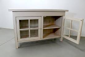 Wood Cabinet Glass Doors Reclaimed Wood Media Cabinet With Glass Doors Ecustomfinishes