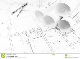 home plans and drawing compass stock photo image 39324699