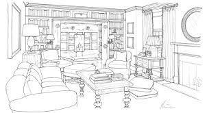 Living Room Architecture Drawing Drawings Weena And Spook