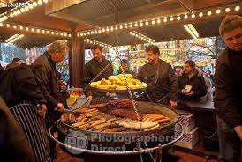 pd stock photo food stall at winter hyde park
