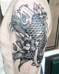 Black And Grey Koi Carp - 49 koi fish designs with meanings