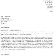 Resume For Insurance Underwriter Lettercv Com Wp Content Uploads 2014 08 Insurance