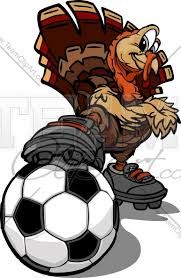 soccer turkey thanksgiving vector clipart image