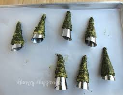 green pesto crescent roll christmas trees