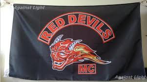 Custom Flags Online Red Devils Mc Flag 90 X 150 Cm Polyester Holland Outlaw Motorcycle