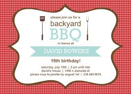 Backyard Birthday Party Invitations Free Bbq Invitation Templates