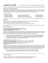 Cse Resume Format Computer Science Resumes Resume Format For Computer Science