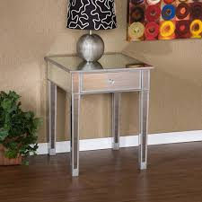 Mirrored Nightstand Sale Illusions Collection Mirrored Accent Table Walmart Com