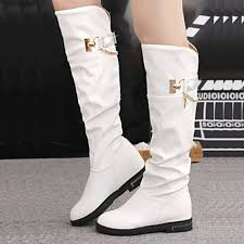 womens white knee high boots nz s shoes nz fashion flat heel toe knee high boots