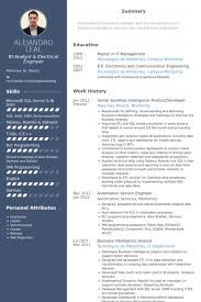 It Business Analyst Job Description Resume by Business Intelligence Analyst Resume Samples Visualcv Resume