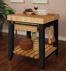 powell color story black butcher block kitchen island beyond stores