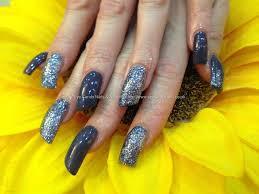 eye candy nails u0026 training acrylic nails with blue gelish gel