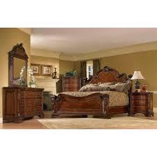wood king size bedroom sets queen size 4 piece wood estate bedroom set overstock com shopping